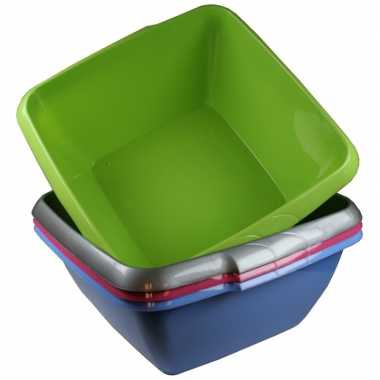 Camping handwas teiltje / afwasteiltje grijs vierkant 11 liter kopen