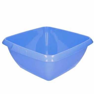 Camping handwas teiltje / afwasteiltje lila blauwe vierkant 11 liter kopen