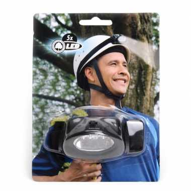 Camping hoofdlampje aan elastiek 5 led kopen