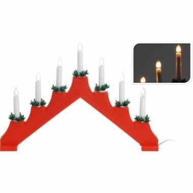 Camping kaarsen brug rood met 7 lampjes kopen