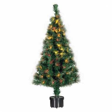 Camping kerst kunstboom met lampjes 90 cm kopen