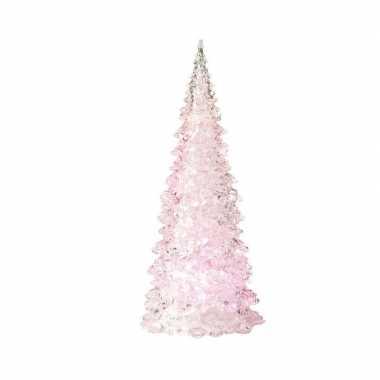 Camping kerstboom led lamp kerst decoratie roze 10 x 22 cm kopen