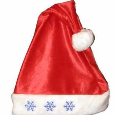 Camping kerstmuts met sneeuwvlok lampjes kopen