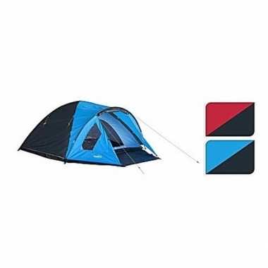 Camping koepeltent blauw/zwart 2 persoons kopen
