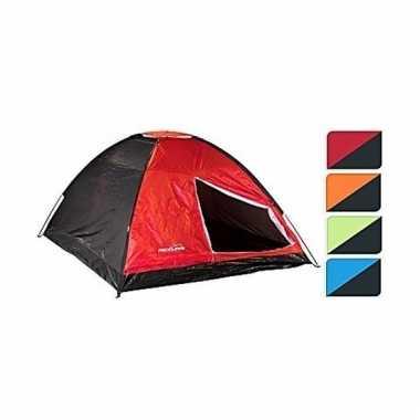 Camping koepeltent rood/zwart 4 persoons kopen
