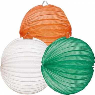 Camping  Lampionnen in het groen wit en oranje kopen