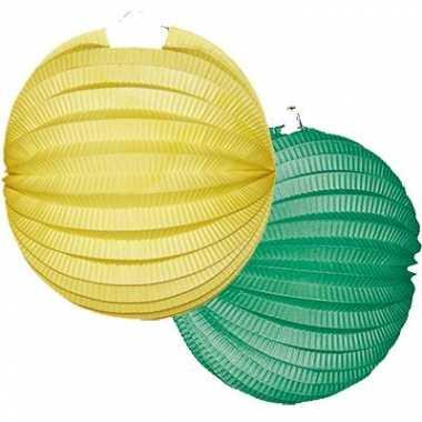 Camping  Lampionnen pakket geel en groen kopen