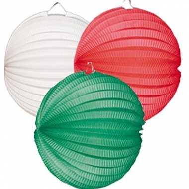 Camping  Lampionnen setje groen-wit-rood kopen