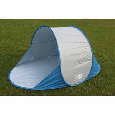 Camping lastpak pop up strandtent blauw kopen