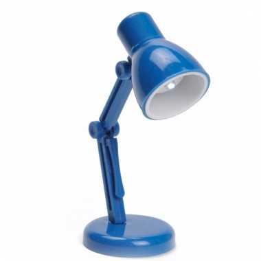 Camping led boekenlampje retro blauw kopen