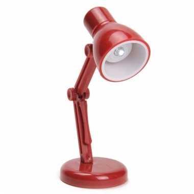 Camping led boekenlampje retro rood kopen