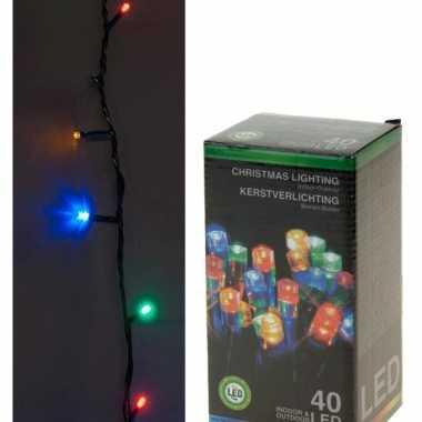 Camping  LED lichtsnoer gekleurd 40 lampjes kopen