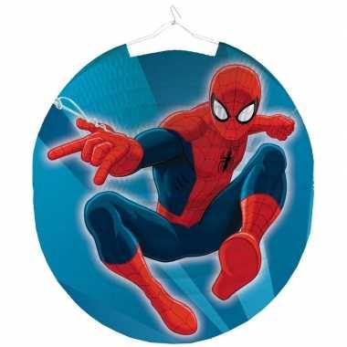 Camping marvel spiderman feestje lampion 25 cm kopen