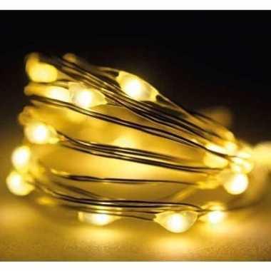 Camping microverlichting warm wit met 60 led lampjes kopen