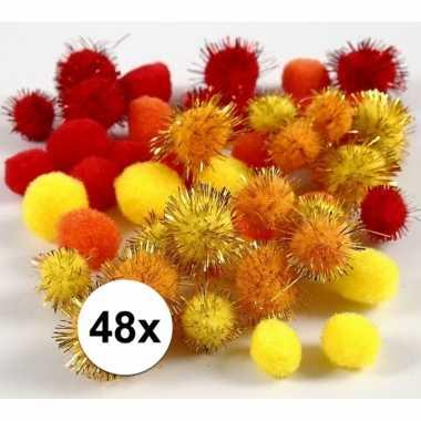 Camping multi kleur decoratieve pompons 15-20 mm kopen