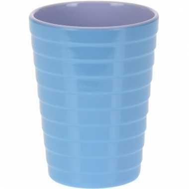 Camping onbreekbare drinkbeker blauw 300 ml kopen