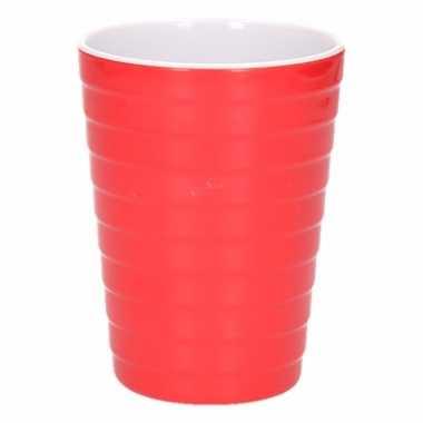 Camping onbreekbare drinkbeker rood 300 ml kopen