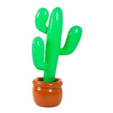 Camping  Opblaas cactus in pot 85 cm kopen