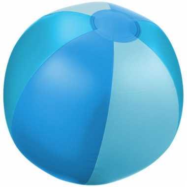 Camping  Opblaas strandbal blauw met lichtblauwe vakken kopen