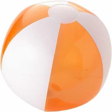 Camping  Opblaas strandbal oranje met wit kopen