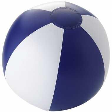 Camping  Opblaasbare strandballen wit/ blauw kopen