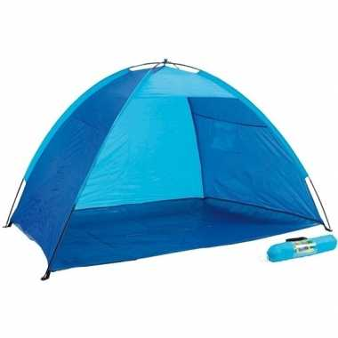 Camping open blauw strandtentje kopen