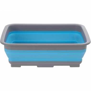 Camping opvouwbaar handwas teiltje afwasteiltje blauw 10 liter kopen