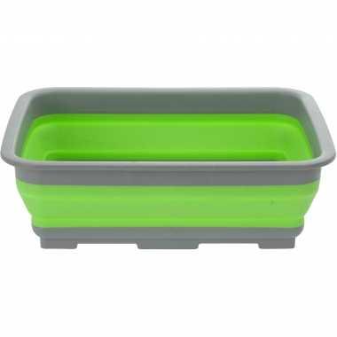 Camping opvouwbaar handwas teiltje afwasteiltje groen 10 liter kopen