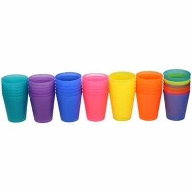 Camping paarse kinder limonade drinkbekers 100 ml 6 stuks kopen