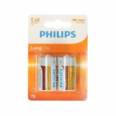 Camping phillips ll batterijen pakket r14 1,5 volt 12 stuks kopen