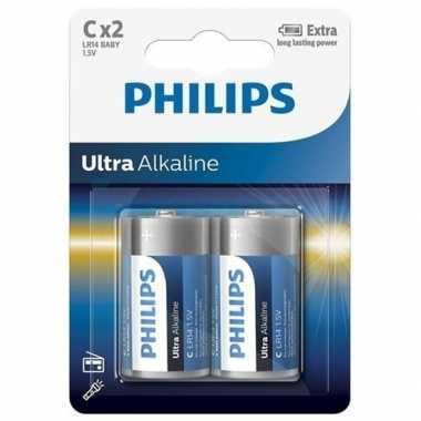 Camping  Phillips LL batterijen pakket R14 1,5 volt 2 stuks kopen