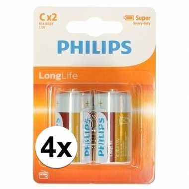 Camping phillips ll batterijen pakket r14 1,5 volt 8 stuks kopen