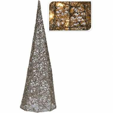 Camping piramide lamp met glitters 40 cm kopen