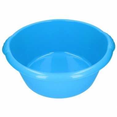 Camping plastic afwas teil blauw 25l 50 cm kopen