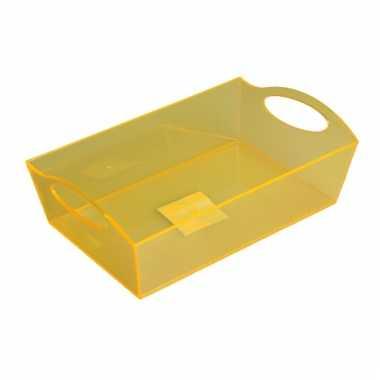 Camping  Plastic opbergbak geel 26 cm kopen