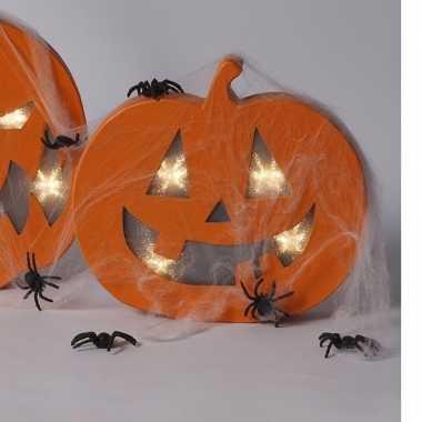 Halloween Pompoen Kopen.Camping Pompoen Verlichting Met Spinnetjes Kopen