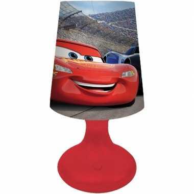 Camping rood disney cars lampje/nachtlampje voor kinderen/jongens kop