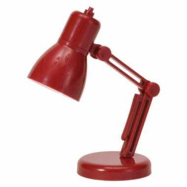 Camping rood led nachtkast lampje 9 cm kopen