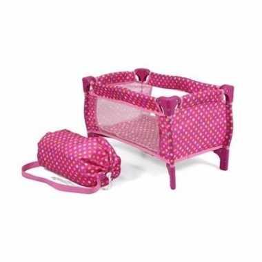 Camping roze opvouwbare poppenbox kopen