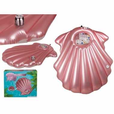 Camping roze schelp luchtbedden 174 cm kopen