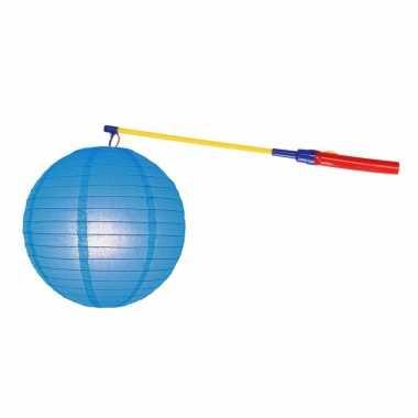 Camping sint maarten lampionset blauw 25 cm kopen