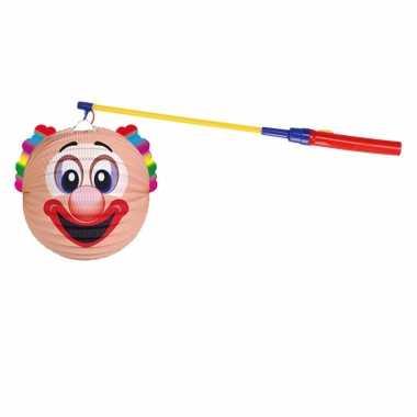 Camping sint maarten lampionset clown 22 cm kopen