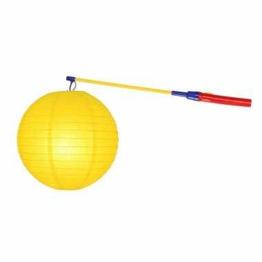 Camping sint maarten lampionset geel 25 cm kopen