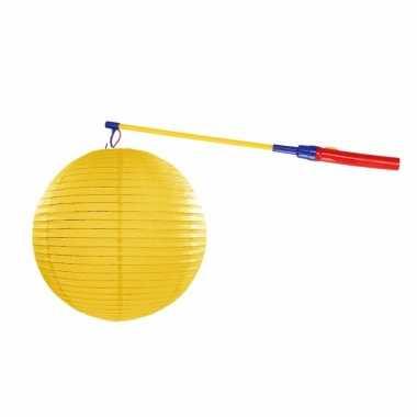 Camping sint maarten lampionset geel 35 cm kopen