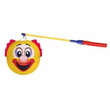 Camping sint maarten lampionset gele clown 22 cm kopen