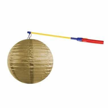 Camping sint maarten lampionset goud 35 cm kopen