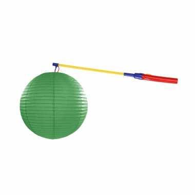 Camping sint maarten lampionset groen 25 cm kopen
