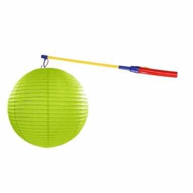 Camping sint maarten lampionset lime groen 35 cm kopen