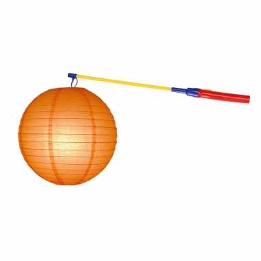 Camping sint maarten lampionset oranje 25 cm kopen