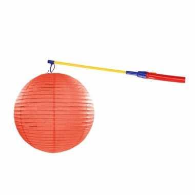 Camping sint maarten lampionset oranje 35 cm kopen